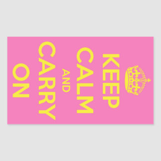 Carry On Bubblegum and Sunshine Rectangular Sticker