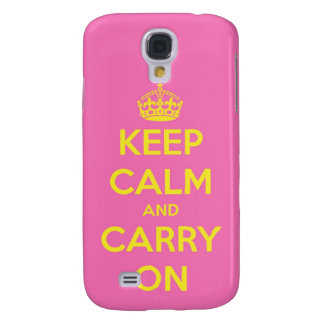 Carry On Bubblegum and Sunshine Samsung Galaxy S4 Cover