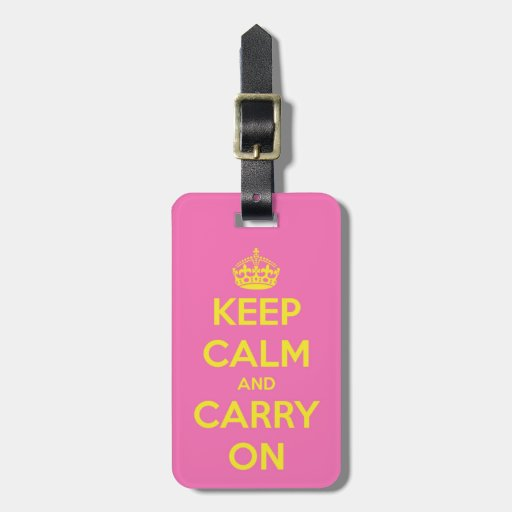 Carry On Bubblegum and Sunshine Tags For Luggage