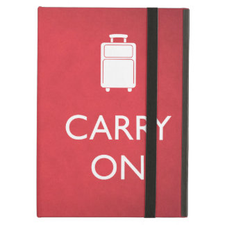 CARRY ON - Luggage - Funny Red iPad Case