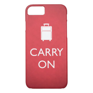 CARRY ON - Luggage - Funny Red iPhone 7 Case