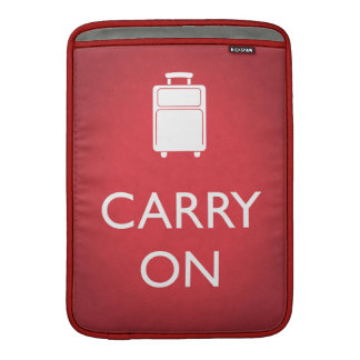 CARRY ON - Luggage - Funny Red MacBook Air Sleeve