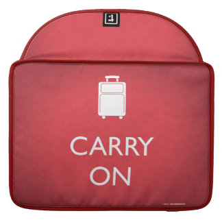 CARRY ON - Luggage - Funny Red MacBook Sleeve Sleeves For MacBook Pro