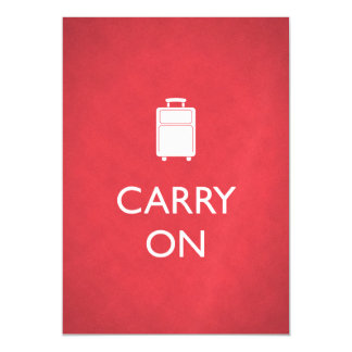 CARRY ON - Luggage - Funny Red Magnetic Card