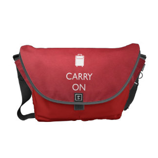 CARRY ON - Luggage -Funny Red Medium Messenger Bag