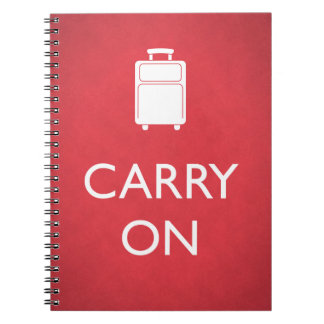 CARRY ON - Luggage - Funny Red Notebook
