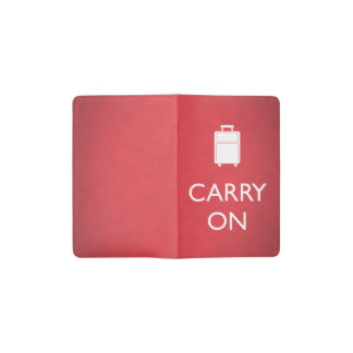 CARRY ON - Luggage - Funny Red Pocket Moleskine Notebook