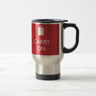 CARRY ON - Luggage - Funny Red Travel Mug