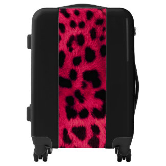 Carry On Luggage Suitcase/Leopard Print