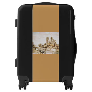 Carry on luggage with Notre Dame Cathedral