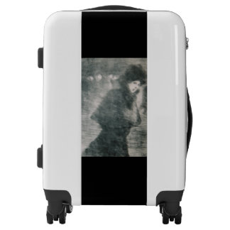 Carry on luggage with 'Une Femme Qui Passe' image
