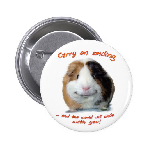 Carry on Smiling! 2 Inch Round Button