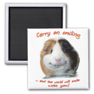 Carry on Smiling! 2 Inch Square Magnet