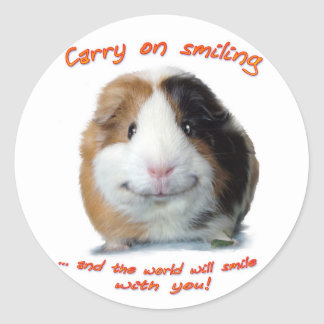 Carry on Smiling! Classic Round Sticker
