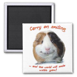 Carry on Smiling! Fridge Magnet