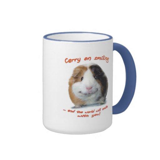 Carry on Smiling! Ringer Coffee Mug