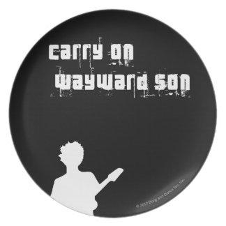 Carry On Wayward Son Dinner Plate