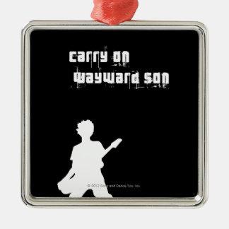 Carry On Wayward Son Metal Ornament