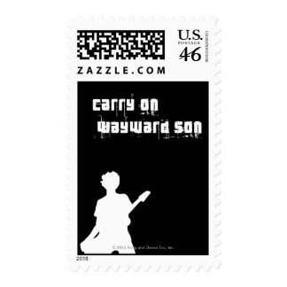 Carry On Wayward Son Postage Stamp