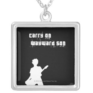 Carry On Wayward Son Square Pendant Necklace