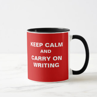 Carry On Writing Funny Humor Journalist Slogan Mug