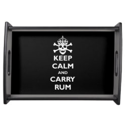 Small Serving Tray with Keep Calm and Carry Rum design