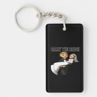 Carry The Bride 2 Double-Sided Rectangular Acrylic Keychain