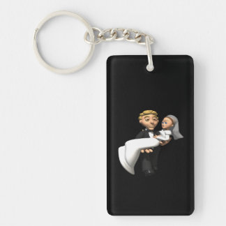 Carry The Bride Double-Sided Rectangular Acrylic Keychain