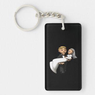 Carry The Bride Double-Sided Rectangular Acrylic Keychain