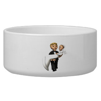 Carry The Bride Dog Water Bowls
