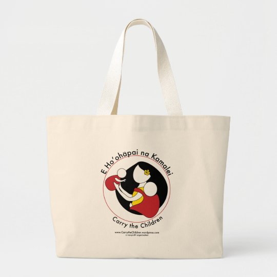 Carry the Children Large Tote Bag