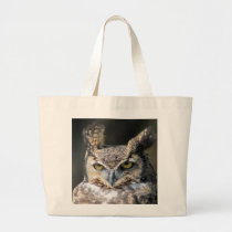 Carry tote with Great-Horned Owl.