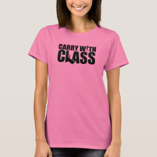 Carry With Class - Black Graphics T-Shirt
