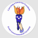 Carrying a Torch Sticker