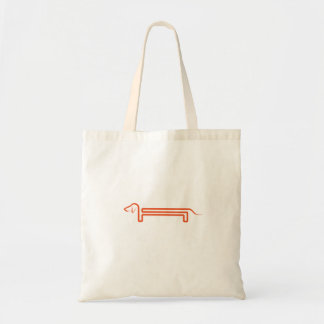 Carrying bag with dachshund