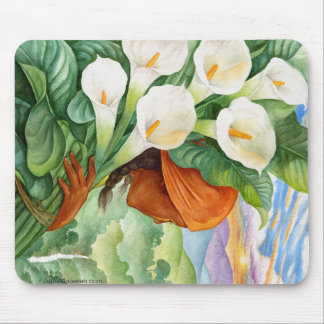 CARRYING CALA LILIES MOUSEPAD