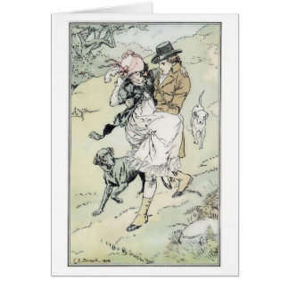 Carrying Her Downhill, Greeting Card