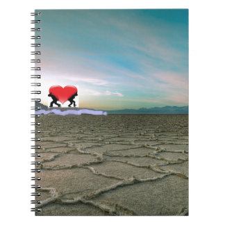 Carrying love spiral notebook