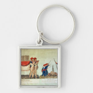 Carrying of the Model of the Bastille Keychain