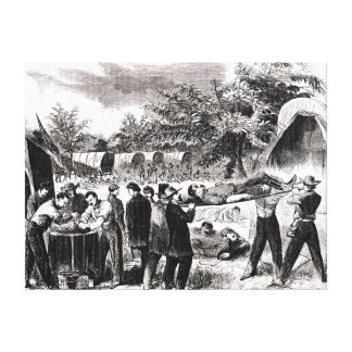 Carrying off the Wounded after the Antietam Canvas Print