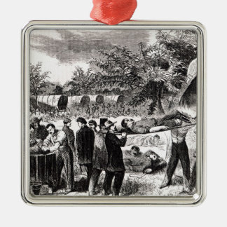Carrying off the Wounded after the Antietam Metal Ornament