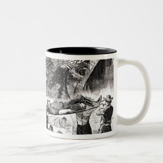 Carrying off the Wounded after the Antietam Two-Tone Coffee Mug