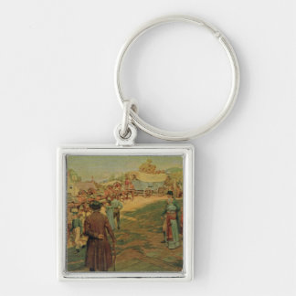 Carrying Powder to Perry at Lake Erie, 1911 Keychain