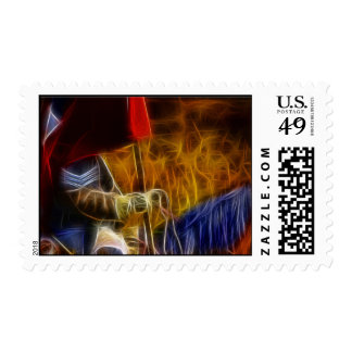 Carrying The Battle Flag - American Civil War Postage