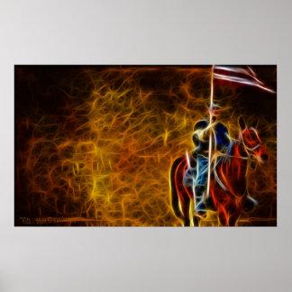 Carrying The Battle Flag - Civil War Poster