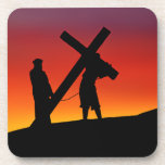 Carrying the Cross Beverage Coaster