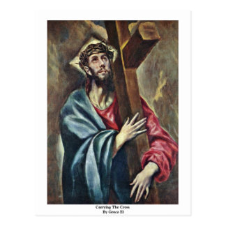 Carrying The Cross By Greco El Postcards