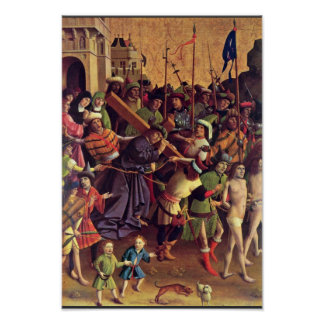 Carrying The Cross By Meister Der Darmstädter Pass Poster