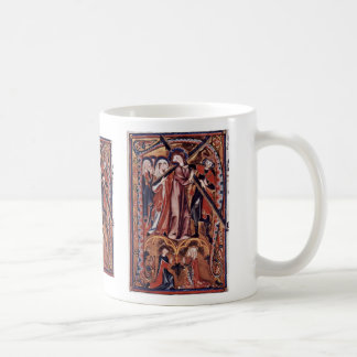 Carrying The Cross Of Christ Initial By Meister De Coffee Mug