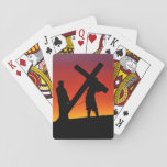 Carrying the Cross Playing Cards